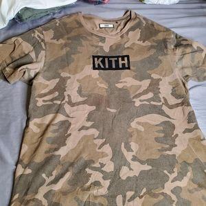 Kith nyc camo tshirt used lightly